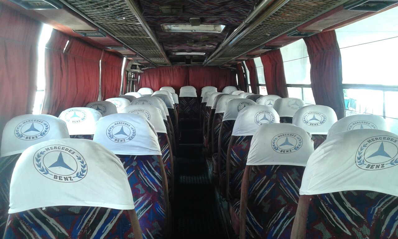 Interior of the bus going from Cola to Debiye